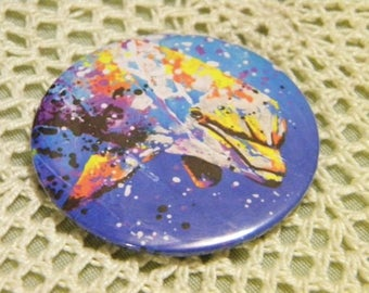 Dolphin magnet / / animal / / magnet / / gift idea / / decor / / decor / / painting / / drawing / / original / / sea / / ocean / / sailor / / whale