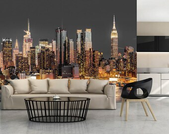 manhattan wall decal etsy