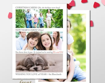 Valentine's Day Cards, Valentine Photo Cards, Holiday Cards, New Years Cards, Funny Holiday Photo Cards, New Year, Late Christmas Cards