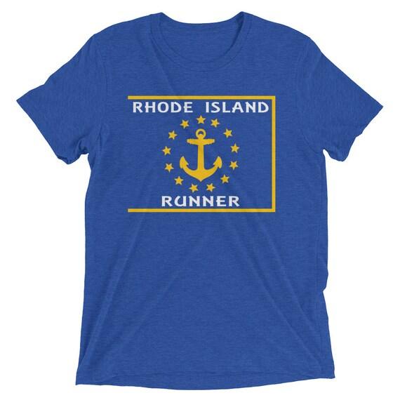 Men's Rhode Island Runner Triblend T-Shirt - Run Rhode Island - Men's Short Sleeve Running Shirt