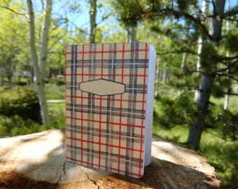 Plaid Memo Book * Little Notebook * Pocket-sized Journal