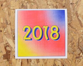 Risograph 2018 Calendar