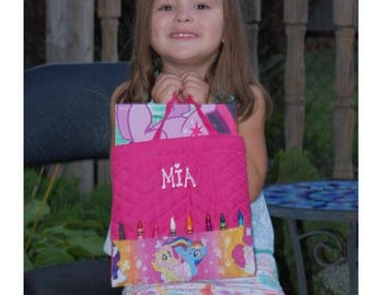My Little Pony Personalized Coloring and Crayon Tote