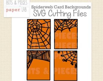 SVG Cutting Files: Halloween Card Overlays, Halloween SVG, Spiderweb SVG