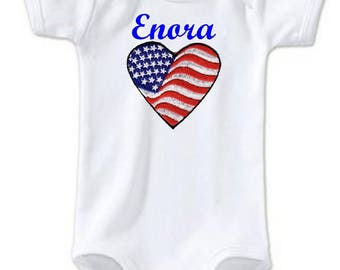 Bodysuit s u heart personalized with name