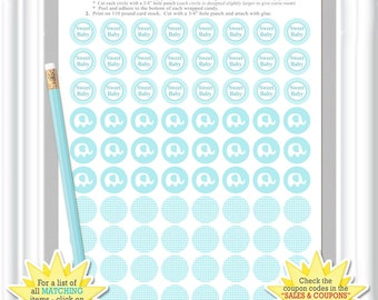 CANDY LABELS for any baby celebration, aqua elephant Hershey Kisses stickers, Baby Shower kiss labels, Printable party candy sheets  (48_ba)