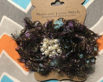 Shabby Flower Barrette