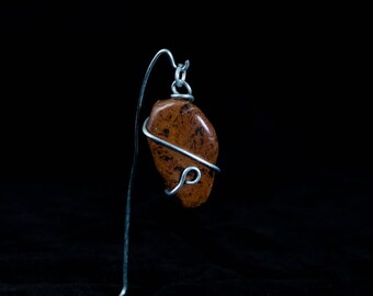 Mahogany Obsidian Crystal Pendant