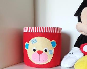 Storage Basket. Fabric Basket. Nursery Decor. Organizer Bin. Home Decor. Storage Bin. Fabric Storage Basket. Felt Basket. Toy Basket.