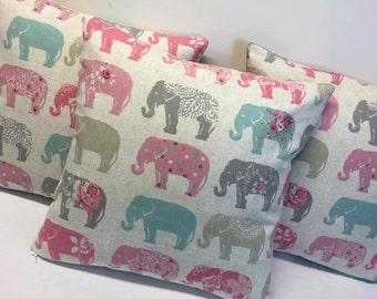 Elephant Cushion Cover, Elephant Design, Elephant, Cushion Cover, Elephant
