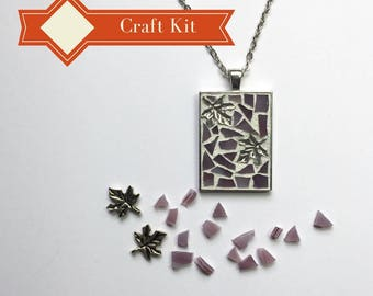 Diy holiday gift etsy diy holiday gift teenage girl gift pendant necklace kit do it yourself craft solutioingenieria Image collections