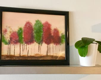 Fall Forest Acrylic Impressionistic Painting