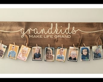 "Grandkids Make Life Grand | 24 "" Art Display Signs 