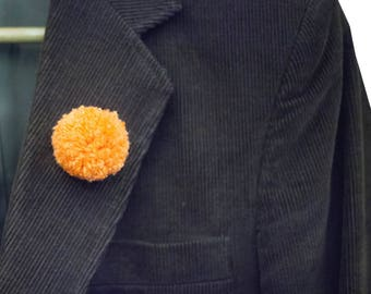 Handmade Pommie BOUTONNIERE Pin // Choose Your Color // Unisex // Standard or Mini