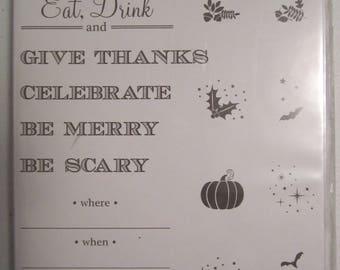 Holiday Invitation used  Stampin' Up! Photopolymer stamp  Set