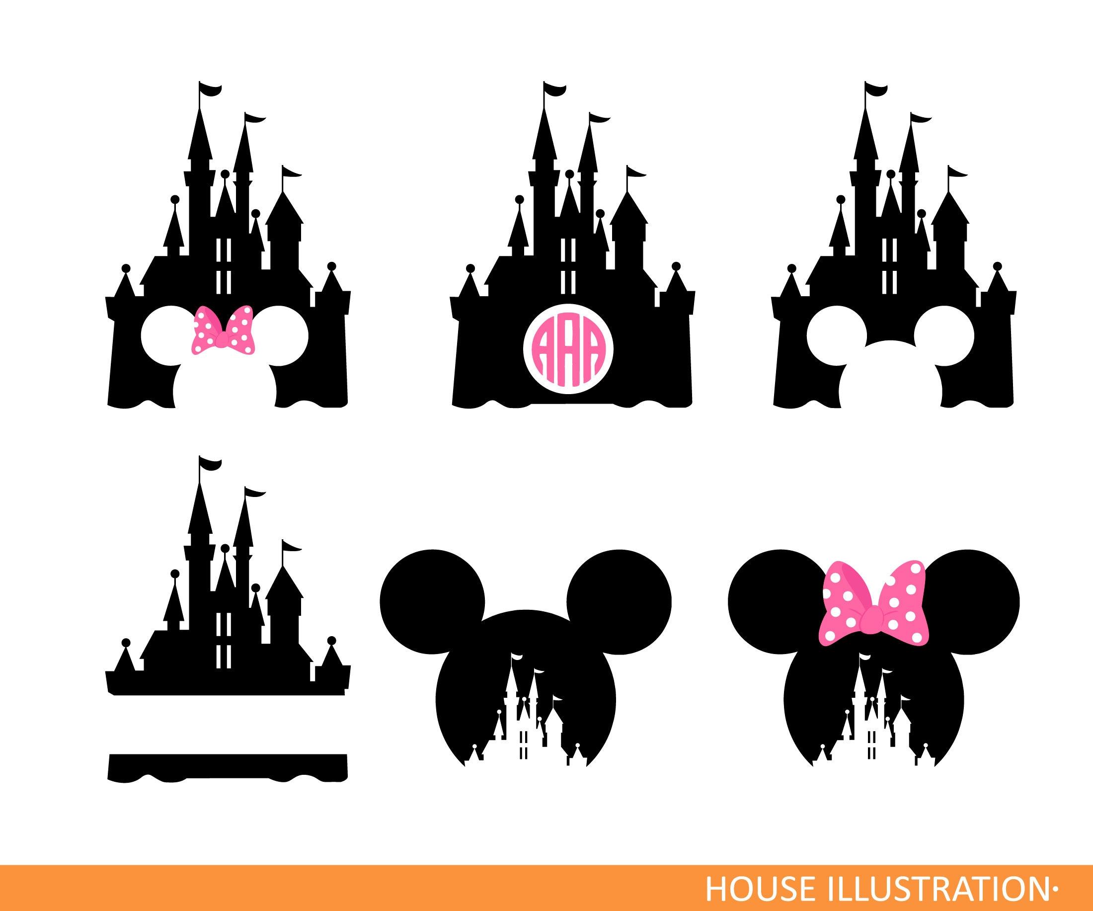 Disney Castle monogram SVG Mickey Mouse minnie svg Magic