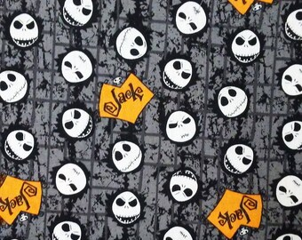 Choose 1 of 6 Different Licensed Tim Burton's Nightmare Before Christmas 100% Cotton Fabric