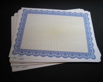 Blank Award Certifcates  -- 40 sheets