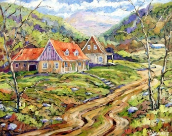 Saguenay View Original Oil painting created by Prankearts