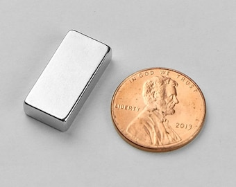"5pcs 20mm x 10mm x 5mm - 3/4"" x 3/8"" x 3/16"" N52 Super Strong Block Cubes Rare Earth Neodymium Fridge Craft Magnets"