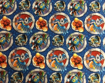 "Camelot Skylanders Character in Badges Premium 100% cotton 43"" wide fabric  (CA113)"