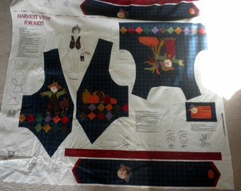 Childrens Harvest Vest Panel