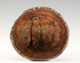 Hand Pinched Footed Wood Fired Bowl by Jenny Mendes - Cloppenhiemer