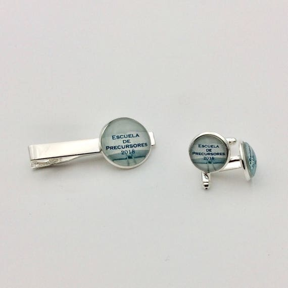 JW Spanish or English Pioneer School Class of 2018  and Cufflinks Set. Blue Velvet Gift Bag Included!