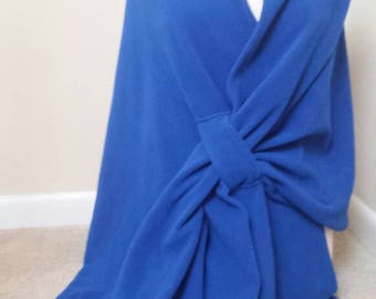 Blue fleece Wrap