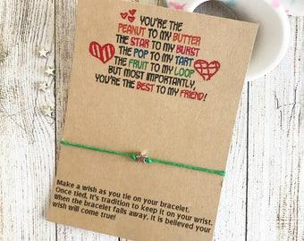 Best Friend Wish Bracelet, Best Friend Party Favors, Best Friend Gift, Friendship Party Favors, Girls Best Friend Gift