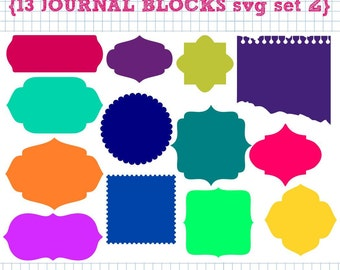 13 Journal Blocks SVG DXF Set 2