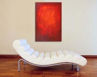 Red Modern Abstract Painting 24 x 36 - Abstract 136 - Modern Art and Contemporary Abstract Acrylic Painting Wall Art