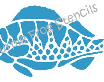 Fish STENCIL (Reusable)Different Sizes Available Ocean, Koi, Carp