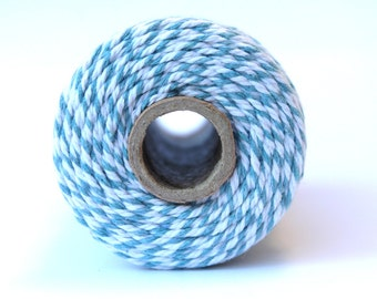 12 Ply Blue Bakers Twine 100 yard spool 12 Ply Thick Cotton String- Birthday Baby Shower Wedding