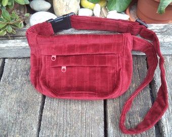 Corduroy belt bag,hip bag,waist bag,fanny pack
