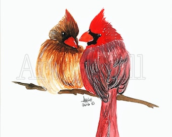 Cardinal Pair- Fine Art Print