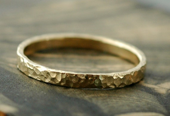 Gold Stacking Ring- 14k Recycled Yellow, White, or Rose Gold- Custom Made