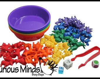 Preschool and Toddler Color Sorting Set with Sorting Bowls and Building Shapes