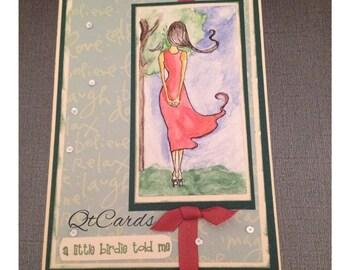 A birdie told me ~ greeting card