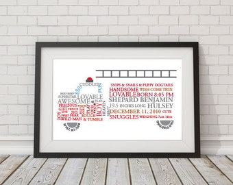 Custom Firetruck Word Art