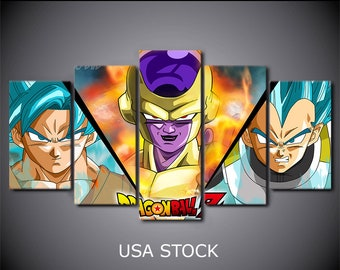 framed canvas pictures print Home Wall Decor Art Dragon ball Z movie living room