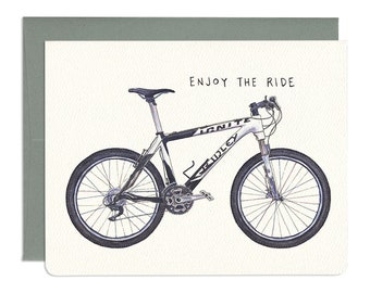 Enjoy the Ride Mountain Bicycle Card