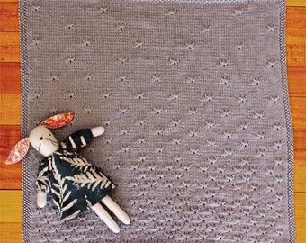 Dandelion Baby Blanket - pdf knitting pattern