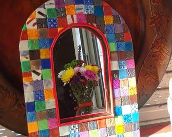Tiles mirror. Frame. Arch mirror. Accent mirror