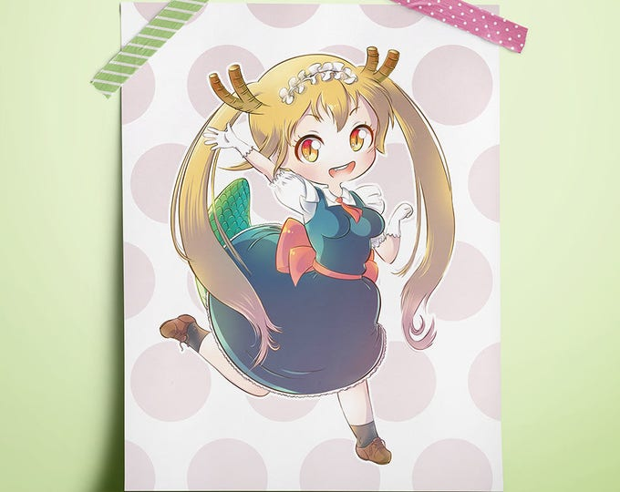 "Featured listing image: Miss Kobayashi's Dragon Maid (Tohru) 8.5"" x 11"" Print"
