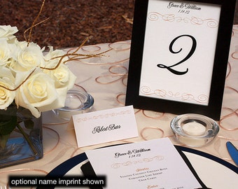 Grace Menu, Table Marker & Place Card Set
