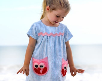 Girls dress pattern PDF, Childrens sewing pattern pdf, girls sewing pattern pdf, toddler pattern, dress sewing pattern, kids clothing OWL