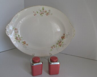 Pastel Platter Floral Platter Farmhouse Table Family Gathering Pastel China Turkey Platter Meat Platter