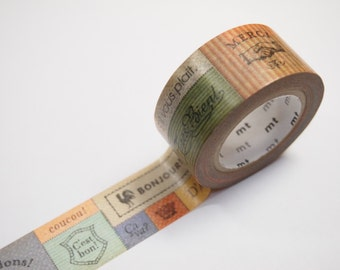 MT Vintage Style MESSAGE Washi Tape (22mm X 10M)