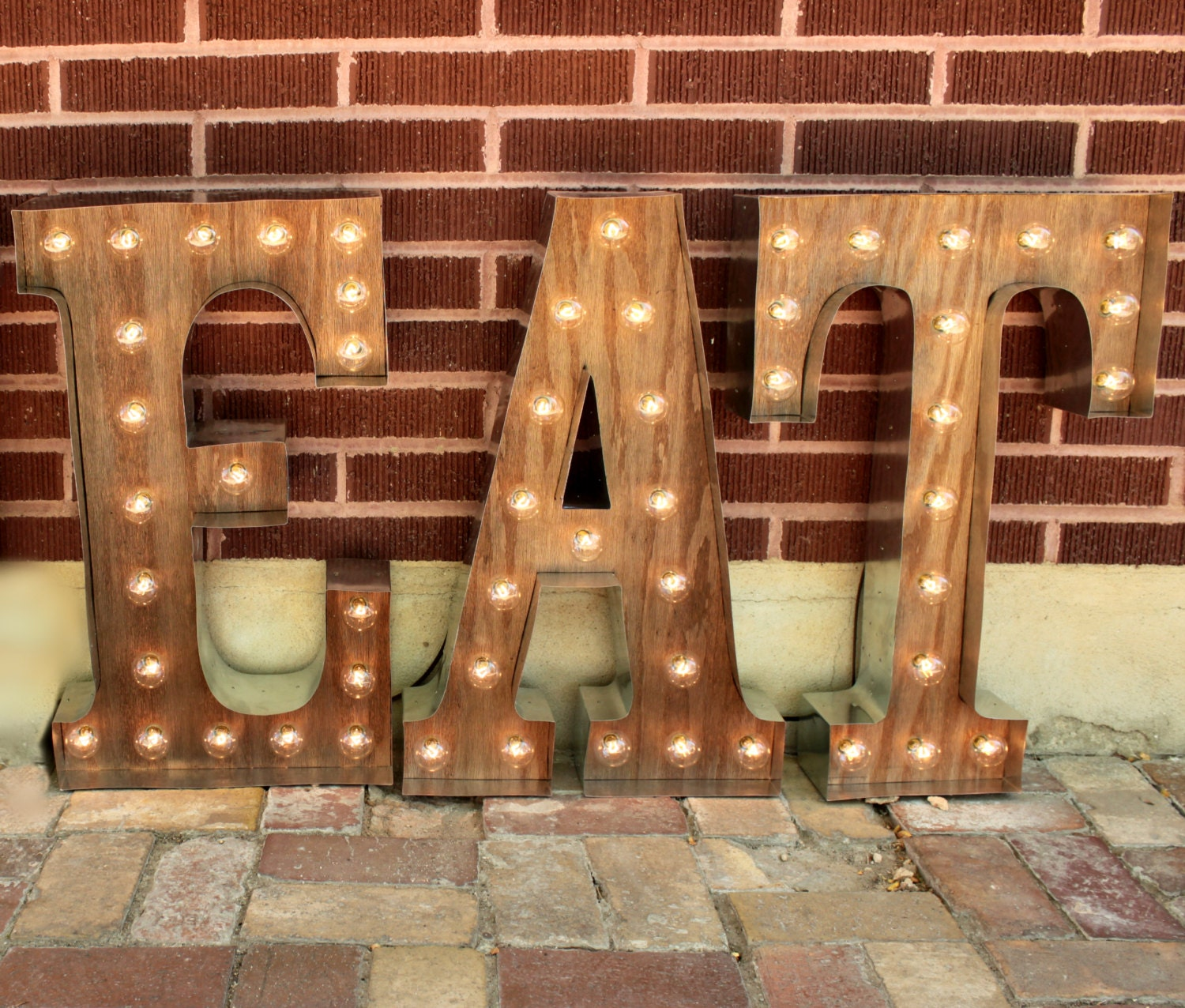 Light Up Letters For Wall Beauteous 36 3 Marquee Light Up Letters Eat Sign Lights Light Design Inspiration
